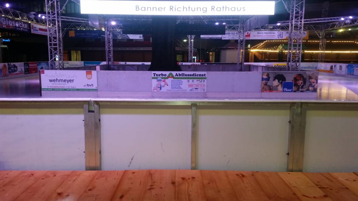 Bandenwerbung bei Ibb on Ice 2014/2015